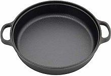 XEMQENER Cast Iron Grilldle Pan Round Frying Pan