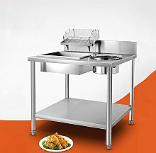 XEMQENER Commercial Kitchen Breading Table,