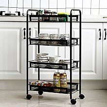 XEMQENER Storage Trolley Rolling Cart Kitchen
