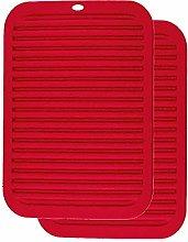 XFentech Red Silicone Trivet - Non-Slip Heat