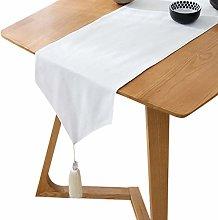 XFentech Table Runner White - Elegant Simple Chic