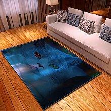XFHHXFY Carpet Area Rug Animal Cat Bedroom Carpet