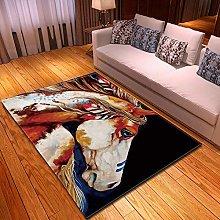 XFHHXFY Carpet Area Rug Animal Horse Bedroom