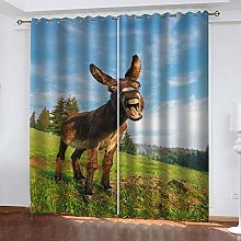 XFHHXFY Duvet Cover Animal Donkey Printed