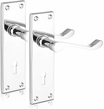 XFORT® Lever Lock Scroll Polished Chrome Door