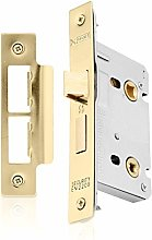 XFORT® Polished Brass Bathroom Lock 65mm for