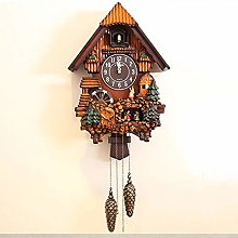 XFSE Wall Clock Brown Wall Clock Fashion Cuckoo