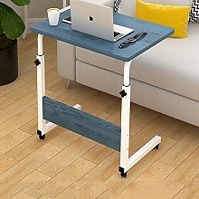 XFXDBT Movable Computer Desk With Wheels,Height