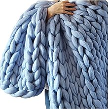 XFYJR Chunky Knit Blanket Washable,Arm Knitted