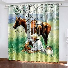 XGFWMS Blackout Curtains For Kids Bedroom Super