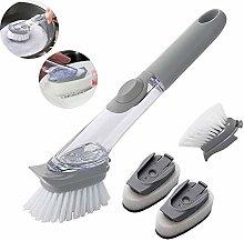 XGG Soap Dispensing Dish Brush Pot Clean Brush-