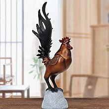 XH&XH Rooster Art Gifts Ornamental Metal Sculpture
