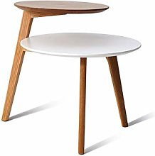 XHCP 2 Tiers Accent Table Small Round Home Office