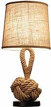 XHCP Creative Table Lamp Retro Hemp Table Lamp E27