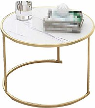 XHCP Desk Iron Coffee Table, Marble Texture