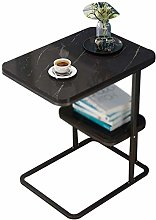 XHCP Desk marble table, steel frame Double Layer