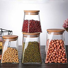 XHCP Food Storage Jar, Glass Jar with Airtight