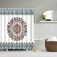 XHCP Shower curtain flower print geometric