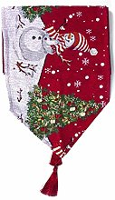 XHCP Table Runner Christmas Embroidered Dining