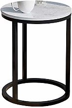 XHCP Table Side Table, Multipurpose Shelf Marble