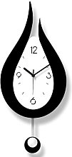 XHDH Decorative Wall Clock, 20.4 Inch Large Silent