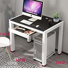 XHF Computer Desk with Drawers,Large Simple