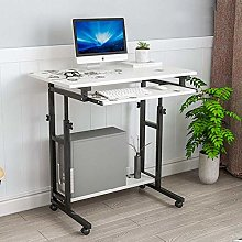 XHF Computer Desk with Keyboard Tray,Mobile