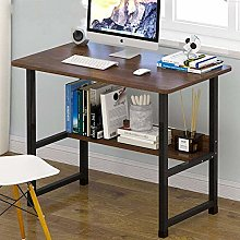 XHF Computer Desk with Storage Shees,Simple Home
