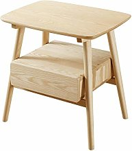 XHF Nordic All-Solid Wooden Bedside Table Simple