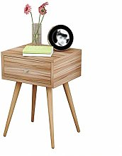 XHF Nordic Solid Wood Bedside Table Modern