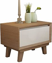 XHF Nordic Solid Wood Bedside Table Simple Modern