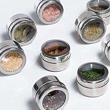 XHF Spice Jars,12Pcs / Set Clear Lid Magnetic
