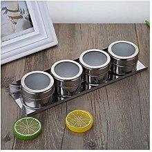 XHF Spice Jars,1Pcs Stainless Steel Spice Sauce