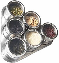 XHF Spice Jars,6Pcs / Set Lid Magnetic Spice Jar