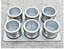 XHF Spice Jars,6Pcs / Set Magnetic Spice Jar