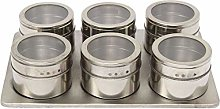 XHF Spice Jars,7In1 Magnetic Spice Jar Stand Set
