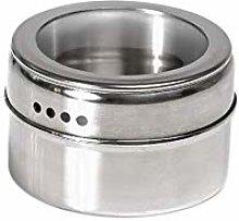 XHF Spice Jars,Clear Lid Spice Magnetic Tin Jar