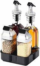 XHF Spice Jars,Hermetic Spice Jar Set, Utensils