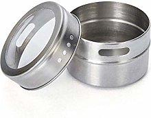 XHF Spice Jars,Magnetic Spice Tin Jar Cover