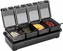 XHF Spice Jars,Spice Jar Set Transparent Black