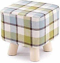 XHF Stools Sofa Stool, Solid Wood Household Stool,