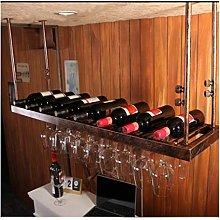 XHF Wine Rack,Wine Racks Tall Glass Rack, Wine