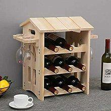 XHF Wine Racks,Wine Rack 3 Tier Wood Wine Rack