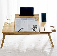 XHF Workstations,Notebook Computer Desk Bamboo Bed