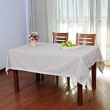 XHNXHN Cotton linen tablecloth pastoral lace