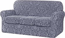 XHNXHN Jacquard Damask Sofa Slipcover with 2