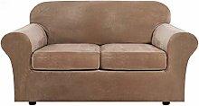 XHNXHN Velvet Sofa Cover with 2 Separate Cushion