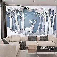 XHXI 3D Forest Modern Minimalist elk TV Background