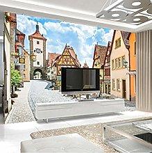XHXI 3D Mural European City Town Photo Wallpaper
