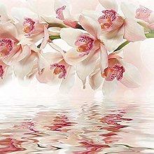 XHXI 3D Wallpaper Murals Beautiful Orchid Flower